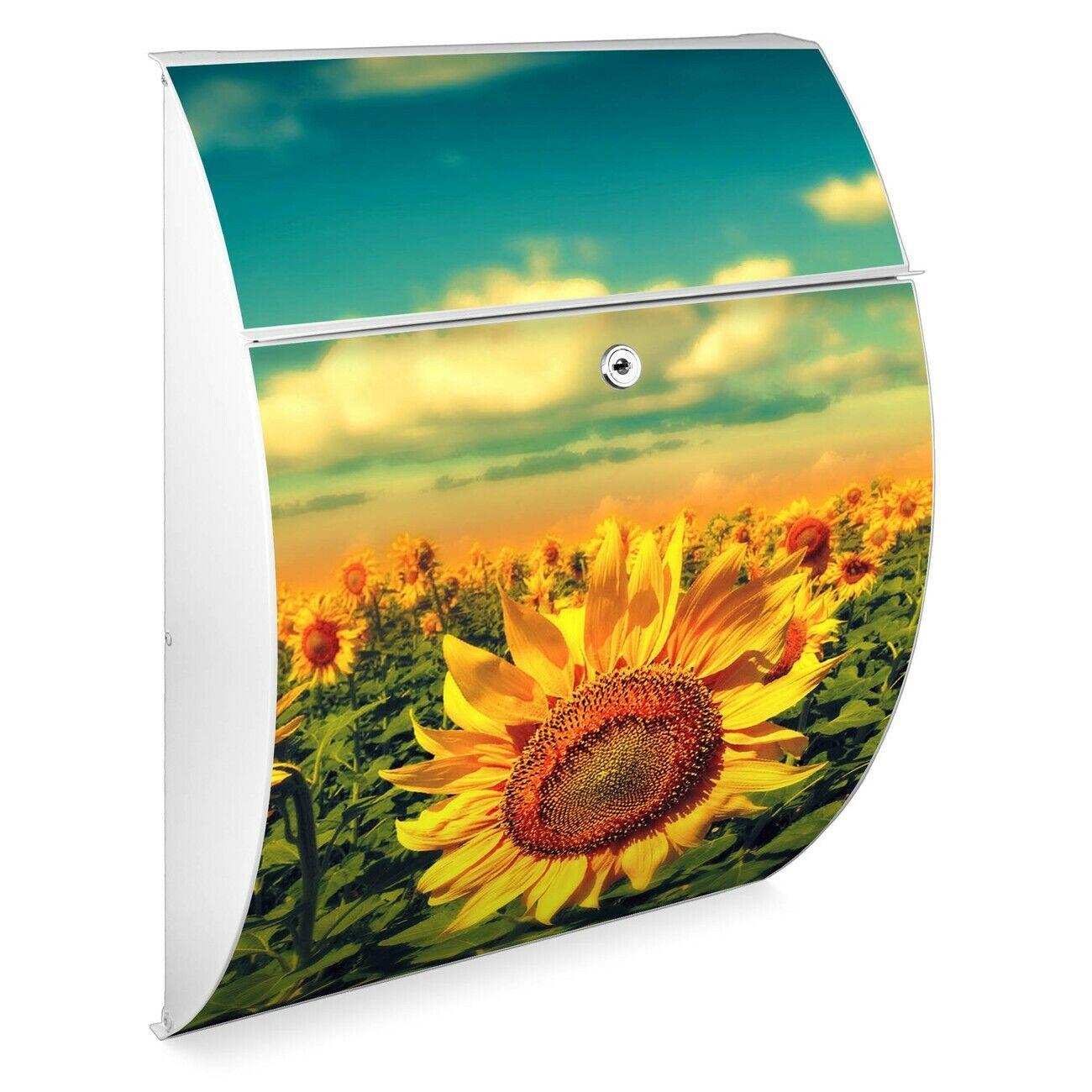 Burg Wächter Design Briefkasten Riviera verzinkt weiß SonnenBlaumen
