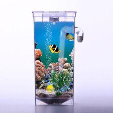 Self Cleaning Aquarium Mini Fun FISH TANK Complete Kit + Led Light Gravity Clean