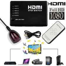5 PORT 1080p HDMI Switch Switcher Selector Splitter Hub & iR Remote For HDTV PS3
