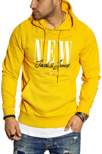 Jack /& Jones Herren Hoodie Kapuzenpullover mit Print Sweatshirt Pullover Casual