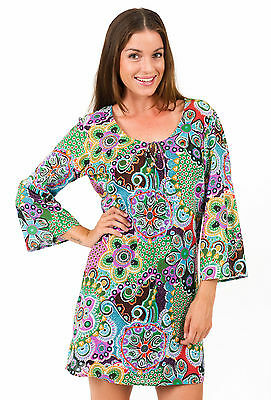New Seascape Cotton Kaftan Dress by Spirituelle S-3XL   Go on Holiday!