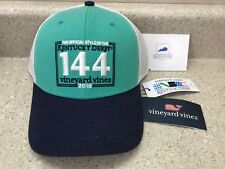 4fb1a751ad8bb 2018 Kentucky Derby 144 Vineyard Vines Trucker Cap Logo Hat Justify NWT  Official