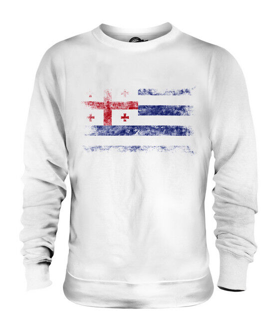 AJARIA DISTRESSED FLAG UNISEX SWEATER TOP FOOTBALL GIFT SHIRT CLOTHING JERSEY