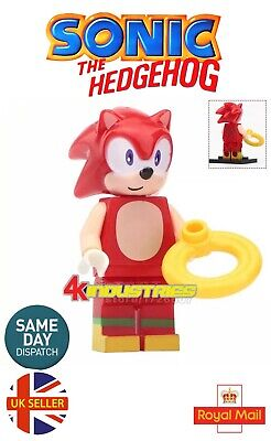Sonic The Hedgehog Mini Figure Shadow Black Green Hill Gold Ring UK Seller