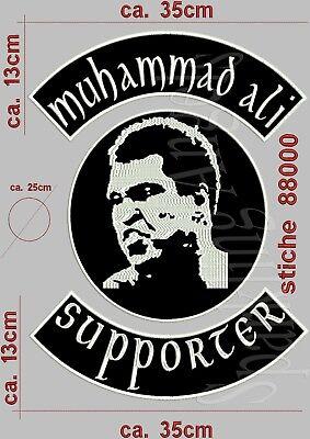 Amabile Muhammad Ali Schiena Ricamate Set (3 Pezzi) Ricamate Patch...-
