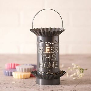 Bless-This-Home-Punched-Tin-Electric-Tart-Warmer-Irvin-039-s-Country-Tinware