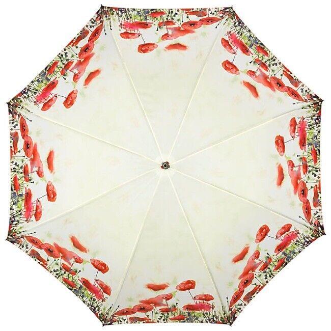 éNergique Mohnblumen Sacs Parapluie Parapluie Fleurs Motif Sur-automatique Type Edition