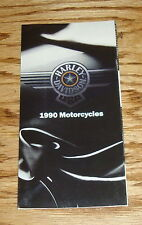Original 1990 Harley-Davidson Motorcycle Full Line Sales Brochure 90 FXR