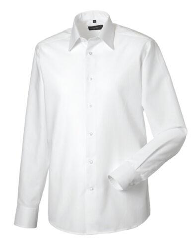 Russel Collection camisa manga larga Oxford S M L XL XXL 3xl sobre tamaño eco-Tex