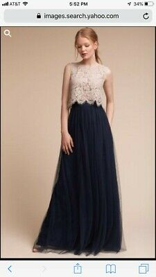 7c762b05a52c NEW W/ TAGS size 12 - $95 Jenny Yoo Arabella Navy Tulle Maxi Skirt  Bridesmaid