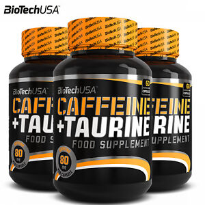 BEST CAFFEINE & TAURINE 60-180 CAPS. Increased Energy Levels Weight Loss Support