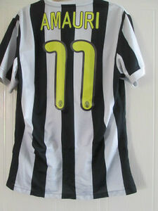 official photos 184a7 24018 Details about Juventus 2009-2010 Amauri 11 Home Football Shirt Size Medium  /38097