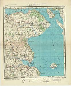Denmark Topographic Map.Russian Soviet Military Topographic Maps Sonder Stenderup Denmark