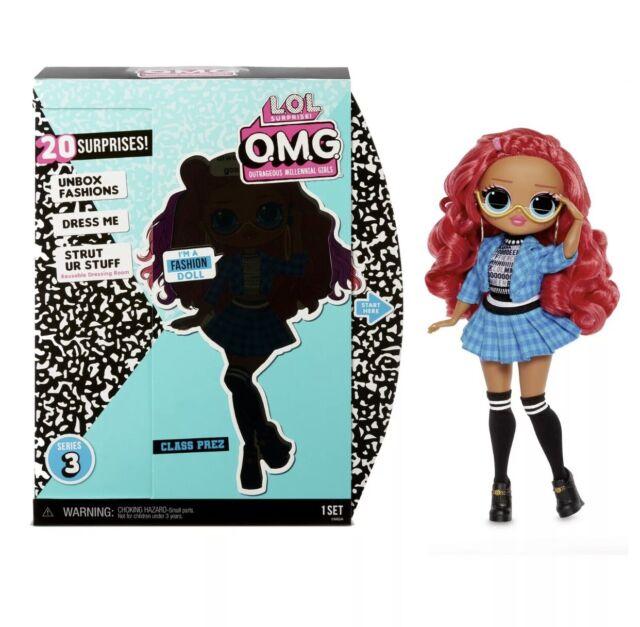 LOL Surprise OMG Class Prez Fashion Doll with 20 Surprises New