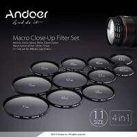 Andoer 58mm Macro Close-Up Filter Set+1+2+4+10 with Pouch for Nikon Canon E4G5