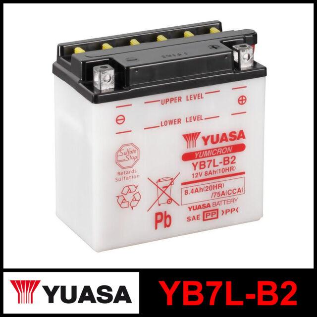 Batería [ Yuasa ] YB7L-B2 (12 Volt / 8 Amperios)
