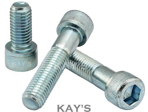12mm Llave Allen Cabeza Tapa socket tornillos de alta resistencia a la tracción 12.9 Pernos De Cinc Plateado M12