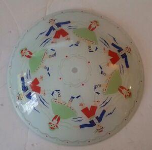 Image Is Loading Vintage Childrens Nursery Ceiling Light Cover Gl German