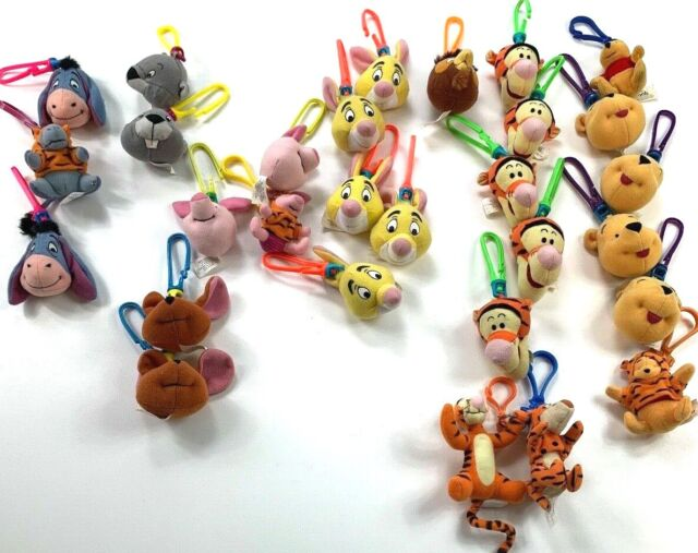 Winnie the Pooh McDonalds Toy Lot of 28 Backpack Clips Disney Plush Happy Meal