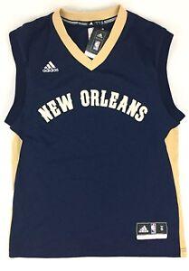 a362fe617 New 🏀 Blank Adidas Mens Small Swingman New Orleans Pelicans Blue ...