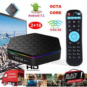 2+16GB T95Z Plus Amlogic S912 Android 7.1 Nougat Octa Core 4K Smart TV BOX 3D US