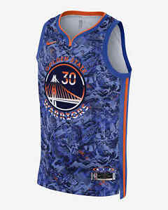 NIKE NBA Stephen Curry Select Series Jersey Hyper Royal DA6955 405 - Med(44)