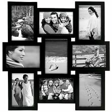 New Collage Photo Frame Set Multiple 9 Pictures Wall Black Family Wedding Decor