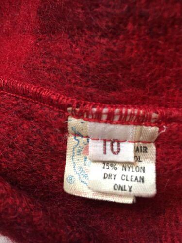 nylon Blazer Leuk Plaid Clairbone 10 Maat van Red wol Liz Mohair Vintage dames aFvEUqfxw