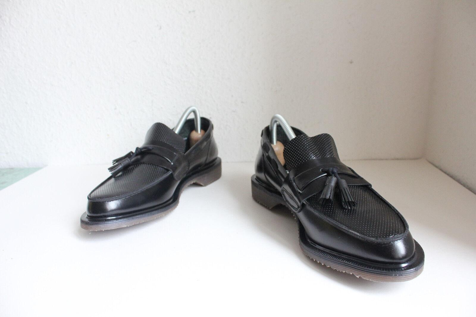 Vintage Dr. Martens Schuhe Mokassin Schwarz Eu 40,5-Uk 7 made in England-Neu