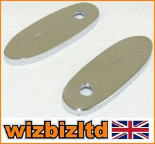 Pair of Chrome RR Logo Mirror Base Plates Honda CBR600 CBR900 Models MBPHRR01CH