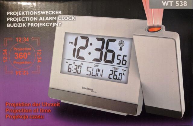 TECHNOLINE Projektionswecker WT 538 Projektions Funkuhr Datum Temperatur
