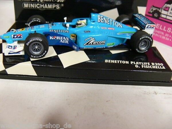 1 43 Minichamps Benetton Playlife B200 Fisichella 2000 430000011