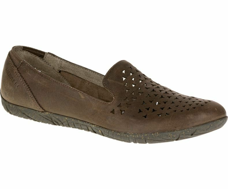 NIB Merrell Mimix Romp Leather Cut-out Slip On shoes Dark Brown Women's Sz 6