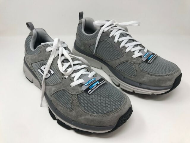 New! Men's Skechers 51551 Relaxed Fit: Optimizer Training Shoes Gray F35