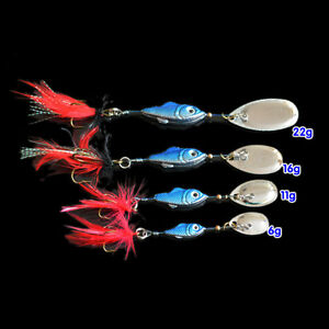 Spinner-Fishing-Lures-peche-Pesca-Artificial-Baits-Metal-Fishing-Tackle-spoon-NT