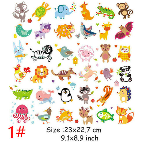 Flowers Iron on Heat Transfer Patches for Kids Clothing DIY Stripe Applique
