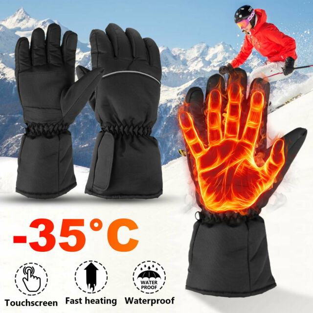 Warm Hand Heated Touchscreen Battery Electric Waterproof Gloves Motorcycle Sport