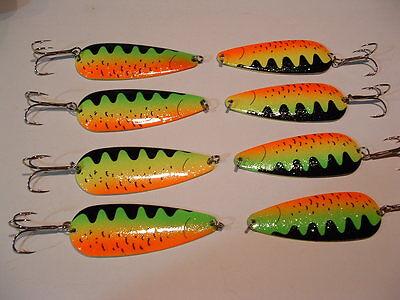 4 Eagle Bay Tigre de Feu pêche leurres 3//8 Once Pike Maskinongé truite saumon Usa Made