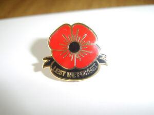 lest we forget poppy badge