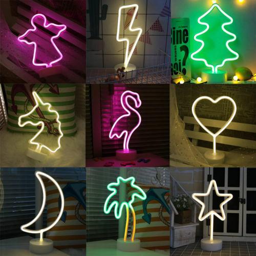 3D LED Neon Sign Lamp Background NightLight Xmas Wedding Room Romantic Gifts