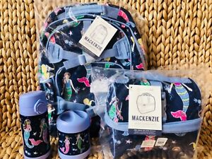 Pottery Barn Kids Navy Mermaid Large Backpack Lunchbox