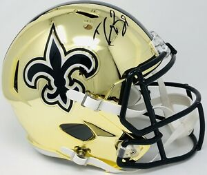 0eda6a5f3 New Orleans Saints  9 DREW BREES Signed Autographed CHROME Speed ...