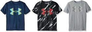 25-Under-Armour-Boys-039-Tech-Big-Logo-Printed-T-Shirt-Youth-MD-LG-XL