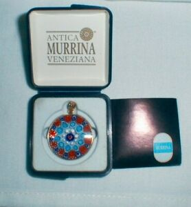 Details about ANTICA MURRINA VENEZIANA MURANO GLASS PENDANT GOLD PLATED  STERLING BEZEL NEW