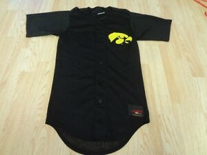 competitive price a3467 89ced Details about Men's Iowa Hawkeyes XS Baseball Jersey (Black) Rawlings Jersey