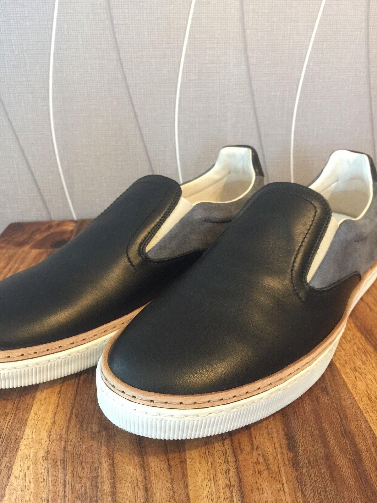 Gommus Herrenschuh, edler Sneaker, Leder (auch Innenschuh)Gr. 43 Neu ohne Karton