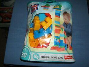 Fisher-Price-MEGA-BLOKS-Classic-Blocks-80-pcs-BIG-BUILDING-BAG-TODDLER-BLOCKS