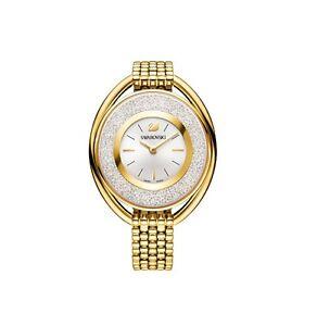 Swarovski-Watch-5200339-Crystalline-Oval-Gold-Bracelet-Swiss-Made-RRP-649
