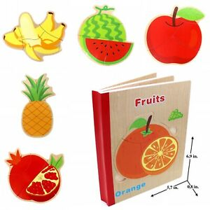 Book Puzzle For Toddlers Kids Educational Early Learning Toys Fruits Ebay