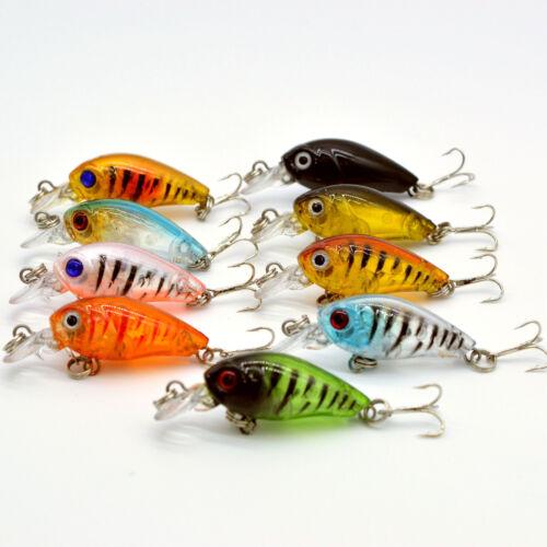 Bulk 90pcs//Lot Bass CrankBait Crank Bait Tackle Fishing Lures 4.5cm//4g 10# hooks
